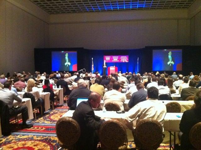 Keynote Speaker Wes Schaeffer at the ICCFA Las Vegas.